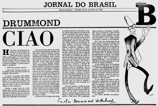 cronica Carlos Drummond de Andrade