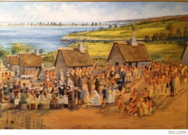 pilgrims peregrinos thanksgiving feast acao de gracas