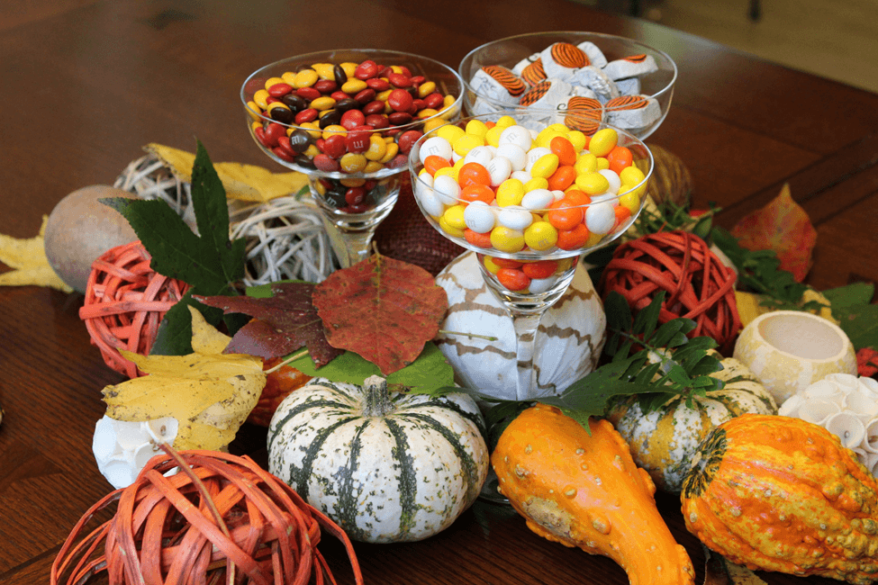 THanksgiving mesa decoracao decoration candy balinha fall mesa