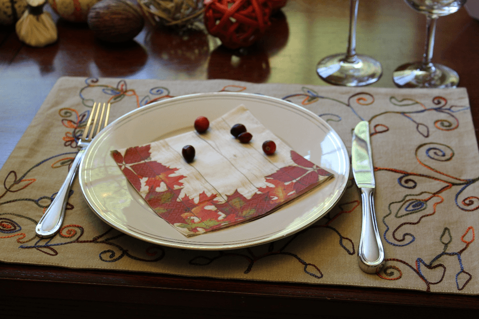 Thanksgiving fall cranberry decoration table mesa decoracao