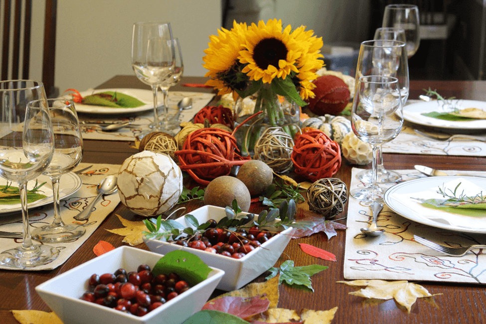 thanksgiving decoration table cranberry decoracao mesa acao de gracas