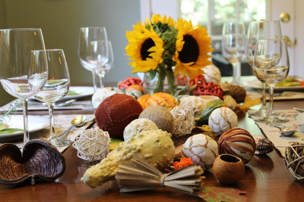 Thankgiving naturalelements table decoration mesa decoracao elementos naturais