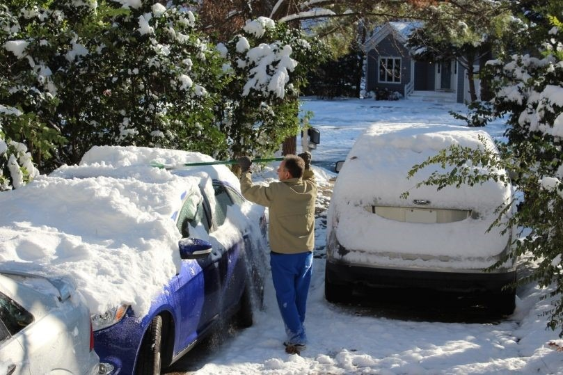 neve inverno limpeza carros winter snow cars cleaning