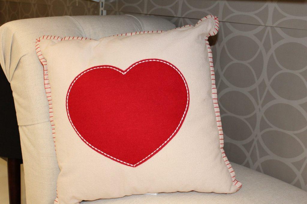 almofada amor amizade valentines day love heart