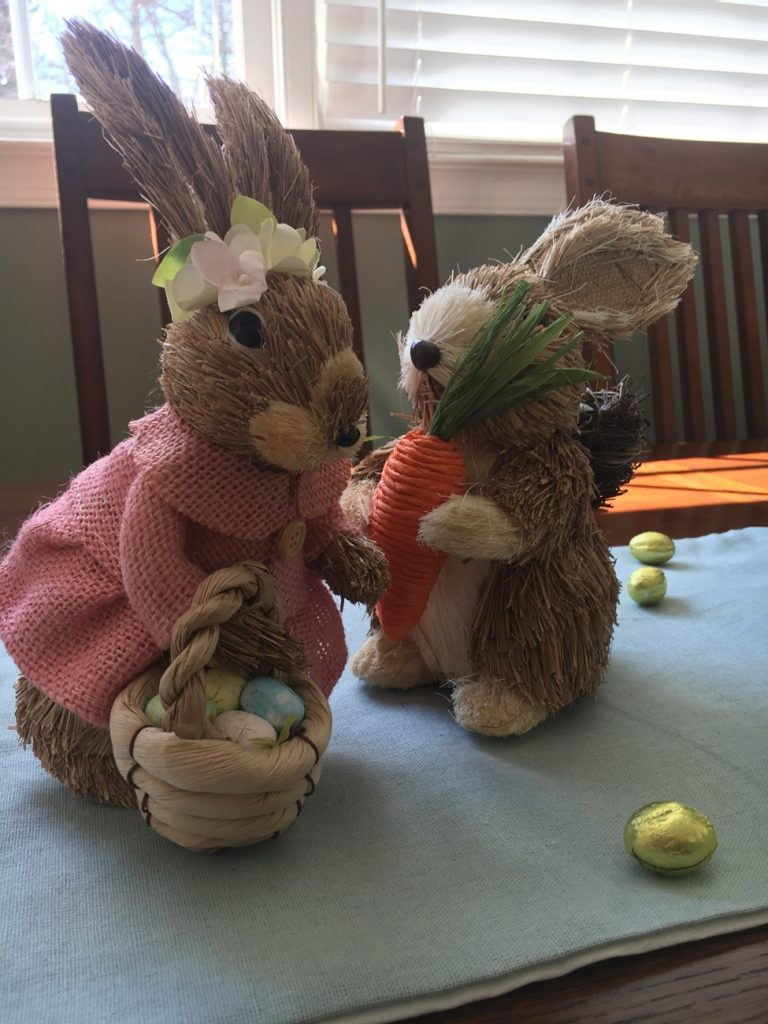 easter decoration bunny table decoracao pascoa coelho mesa