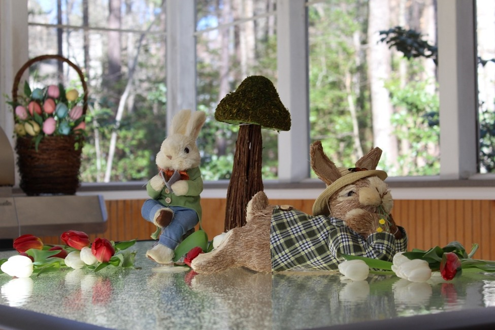 mesa fora decoracao pascoa churrasqueira easter decoration outside table
