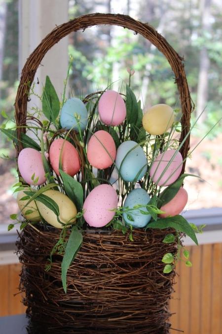 pascoa decoracao cesta ovos easter eggs basket decoration