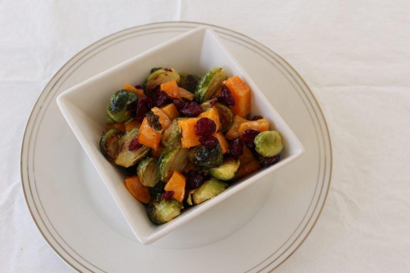 couve de bruxelas abobora salada