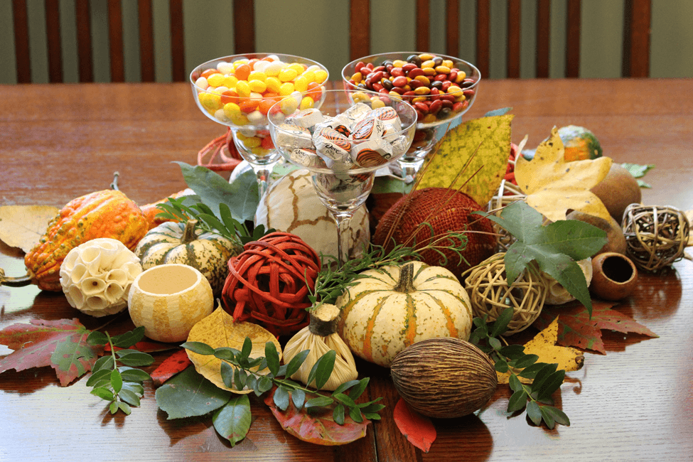 Thanksgiving table decoration candy mesa decoracao balinhas