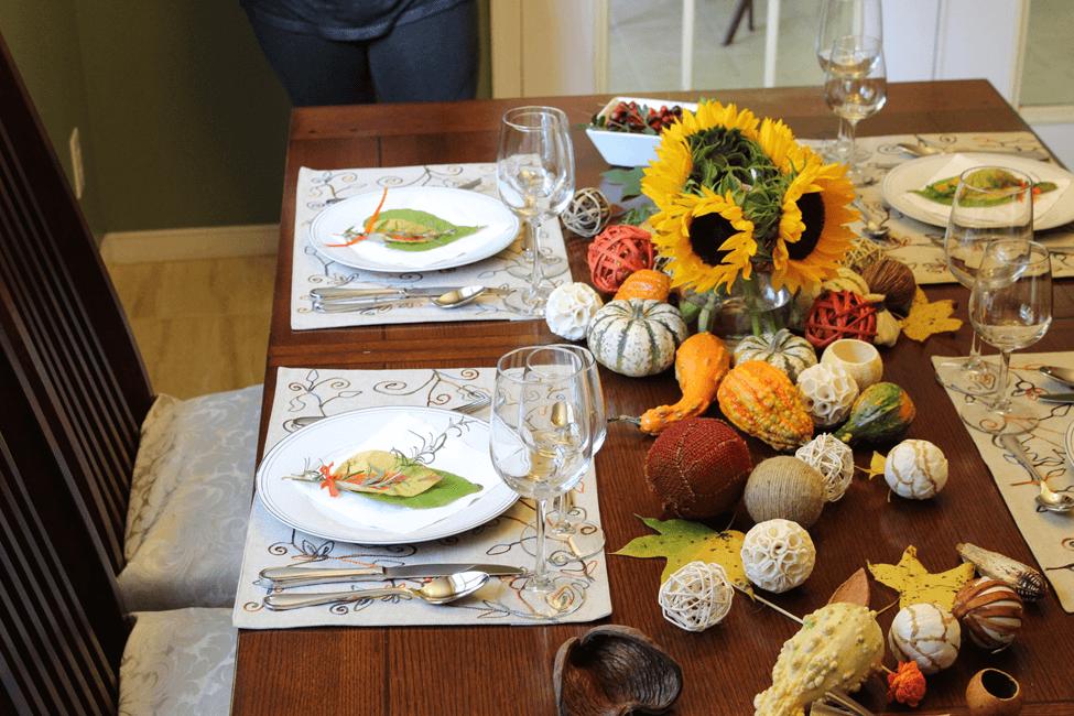 thanksgiving table acao de gracas mesa posta
