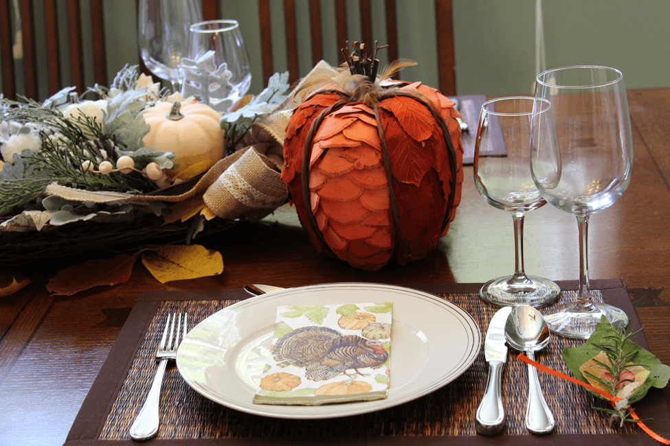 thanksgiving pumpkin decoration table mesa decoracao abobora