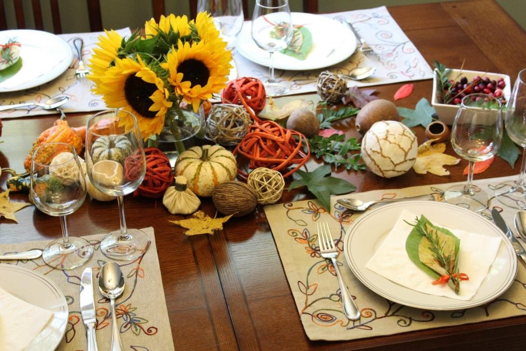 thanksgiving table decoration pumpkin abobora decoracao acao de gracas