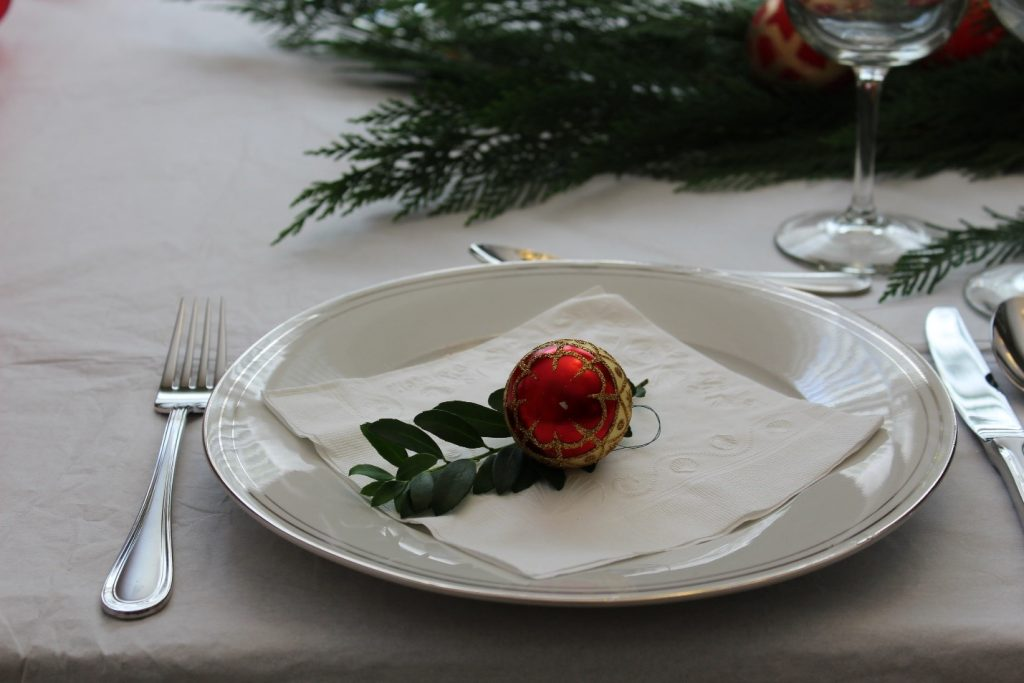 natal mesa decoracao prato detalhe