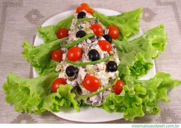 natal mesa salada