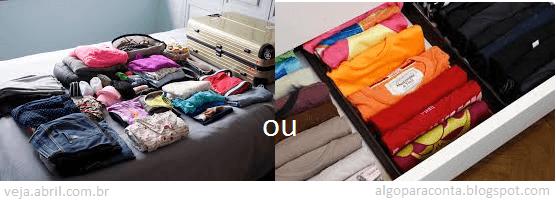 viagem viagens mala malas roupas dobrar enrolar
