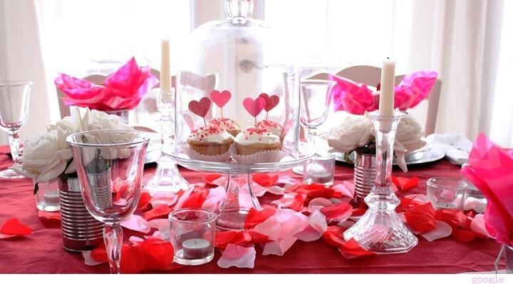 valentine's day table decoration decoracao mesa dia namorados