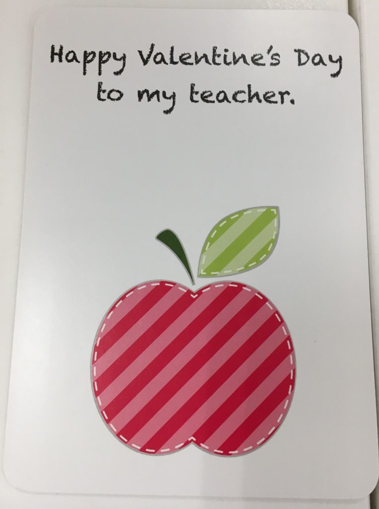 valentine's day friend teacher card cartao amizade