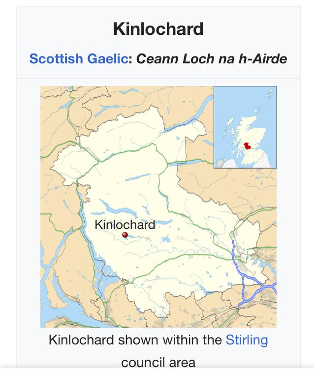 kinlochard escocia mapa
