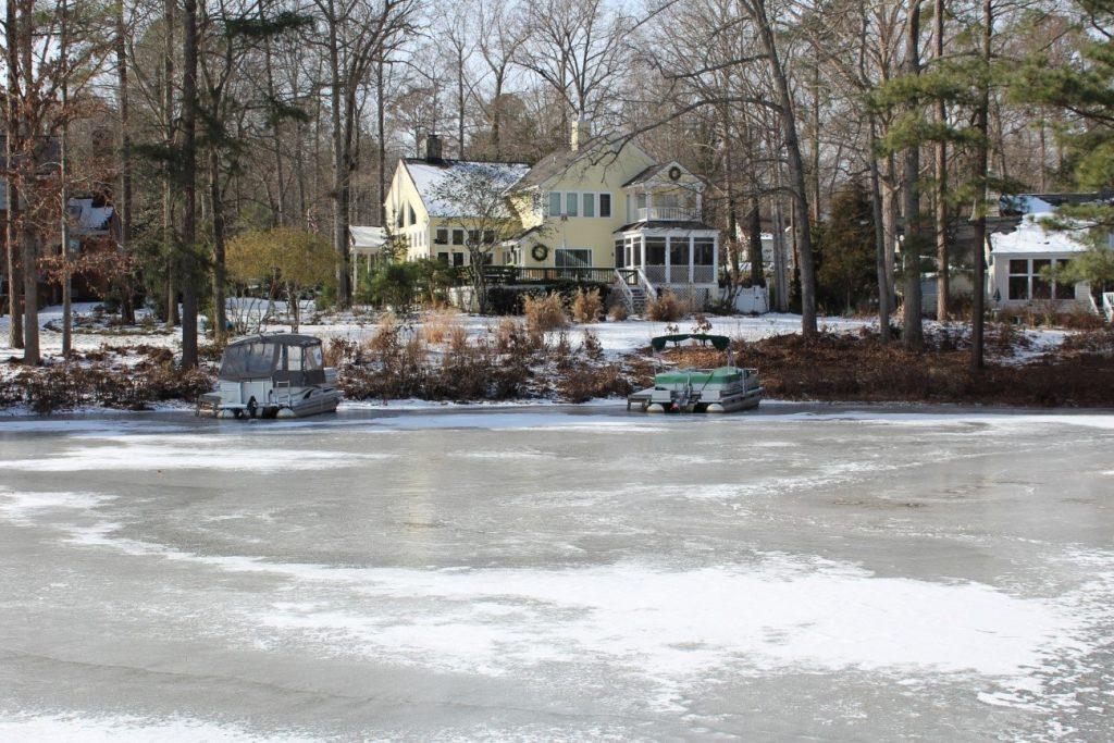frio neve lago congelado